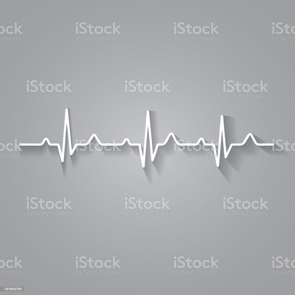Vector Illustration heart rhythm ekg . vector art illustration