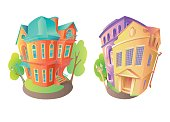 Vector illustration houses 2