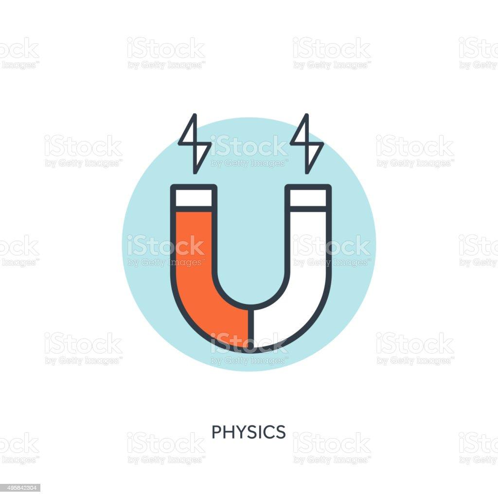 Vector illustration. Magnet Symbol. Electromagnetism symbol vector art illustration