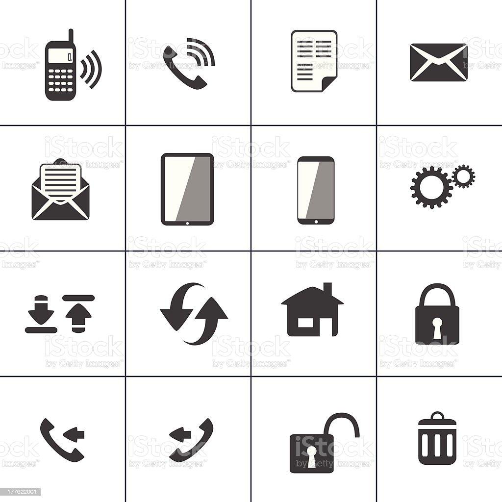 Vector illustration of 16 communication icons vector art illustration