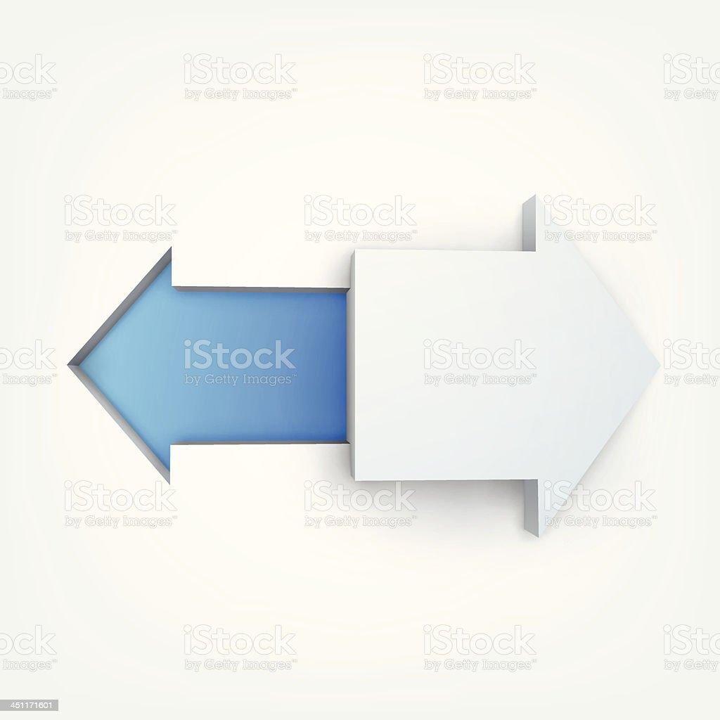 Vector illustration of 3d arrows royalty-free stock vector art