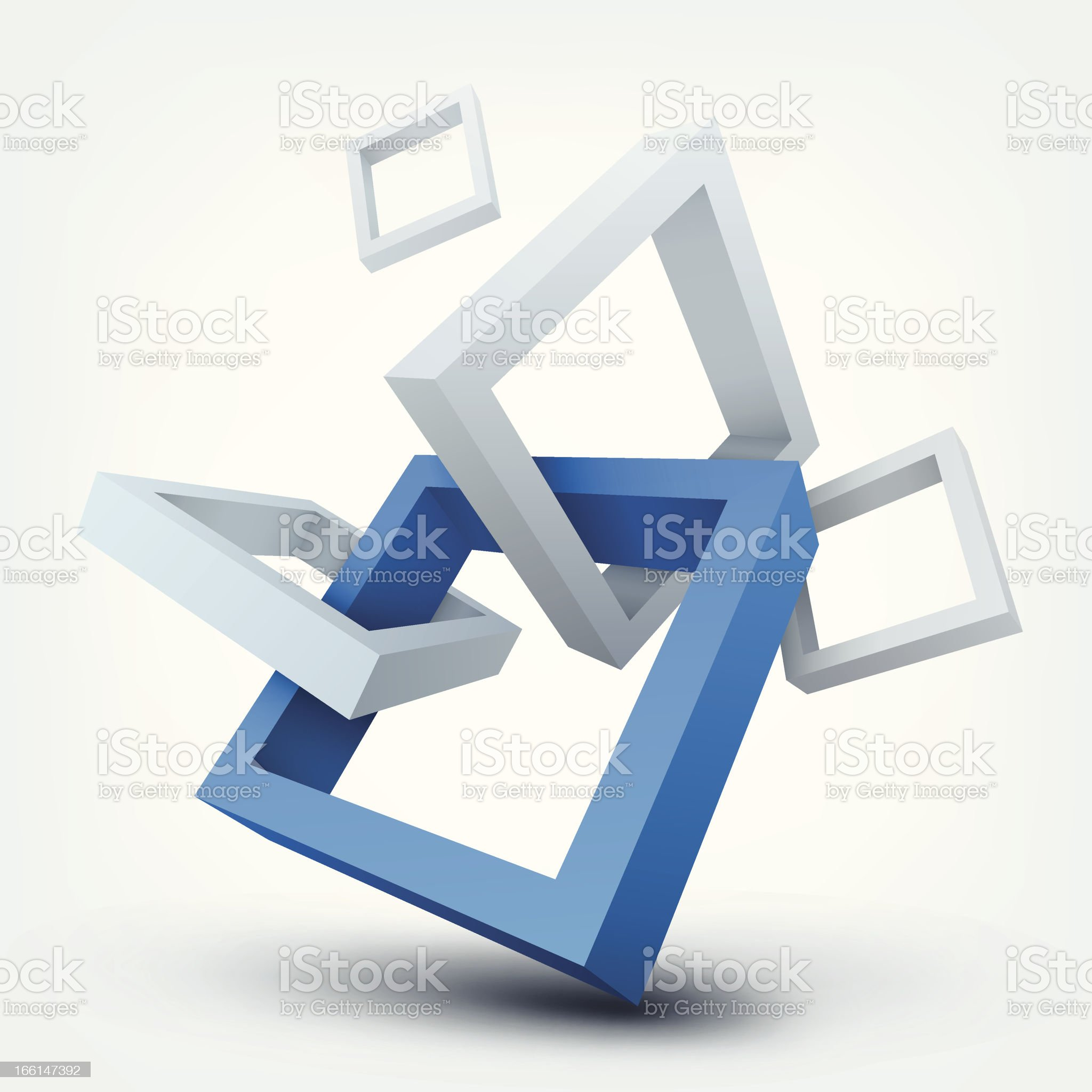 Vector illustration of 3d shapes royalty-free stock vector art