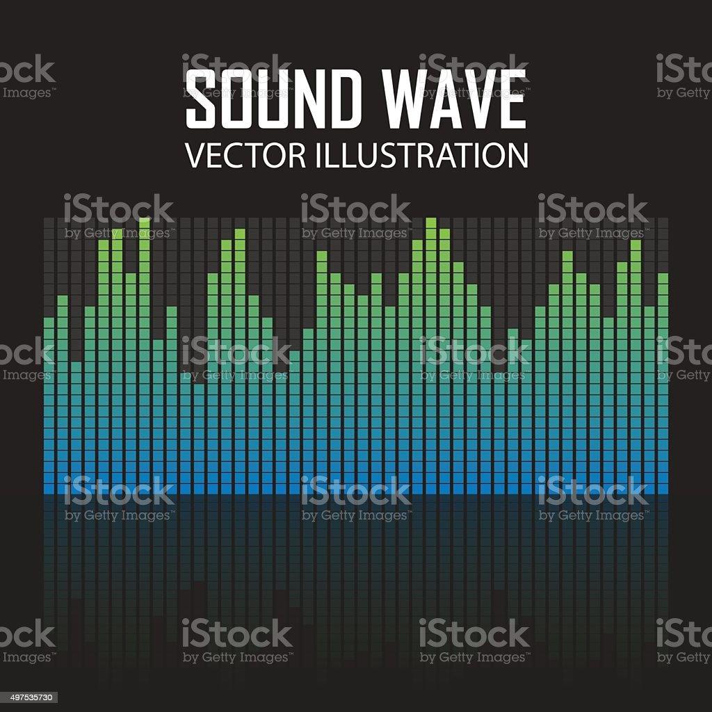 Vector Illustration of a Blue Music Equalizer vector art illustration