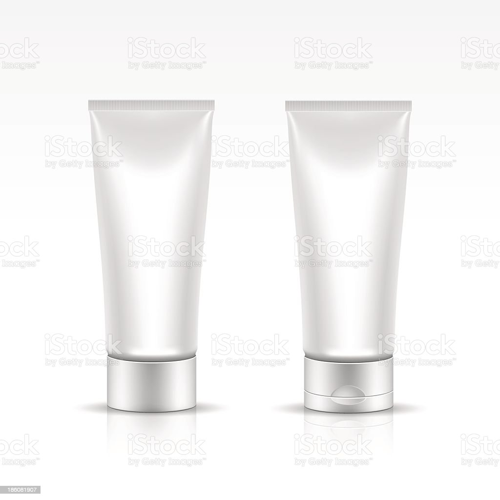 Vector illustration of a cosmetic tube package vector art illustration