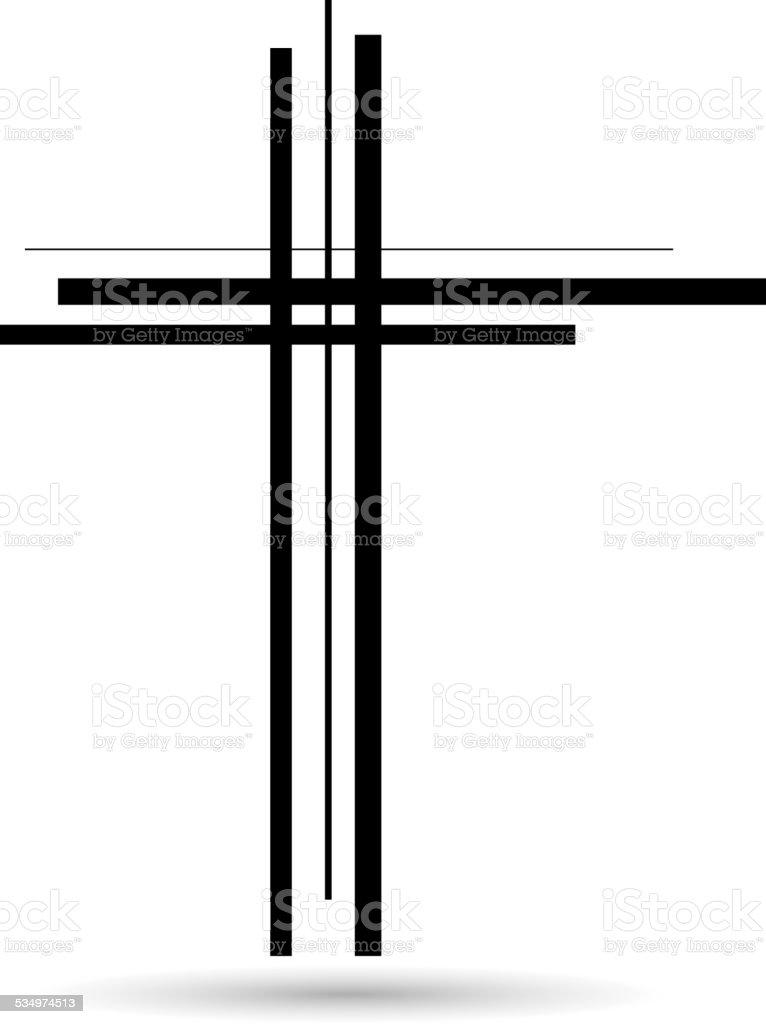 Vector illustration of a cross. vector art illustration