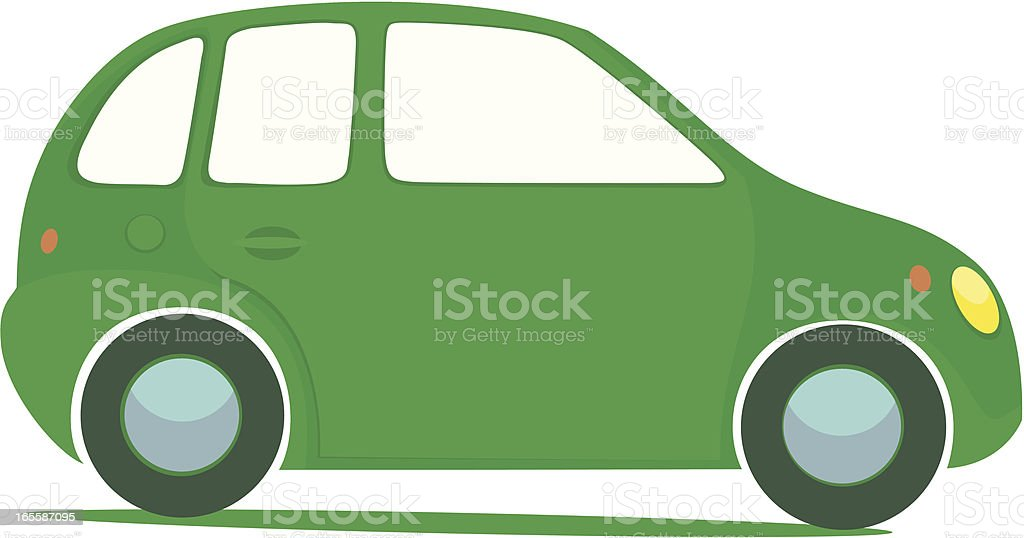 Vector illustration of a green car royalty-free stock vector art