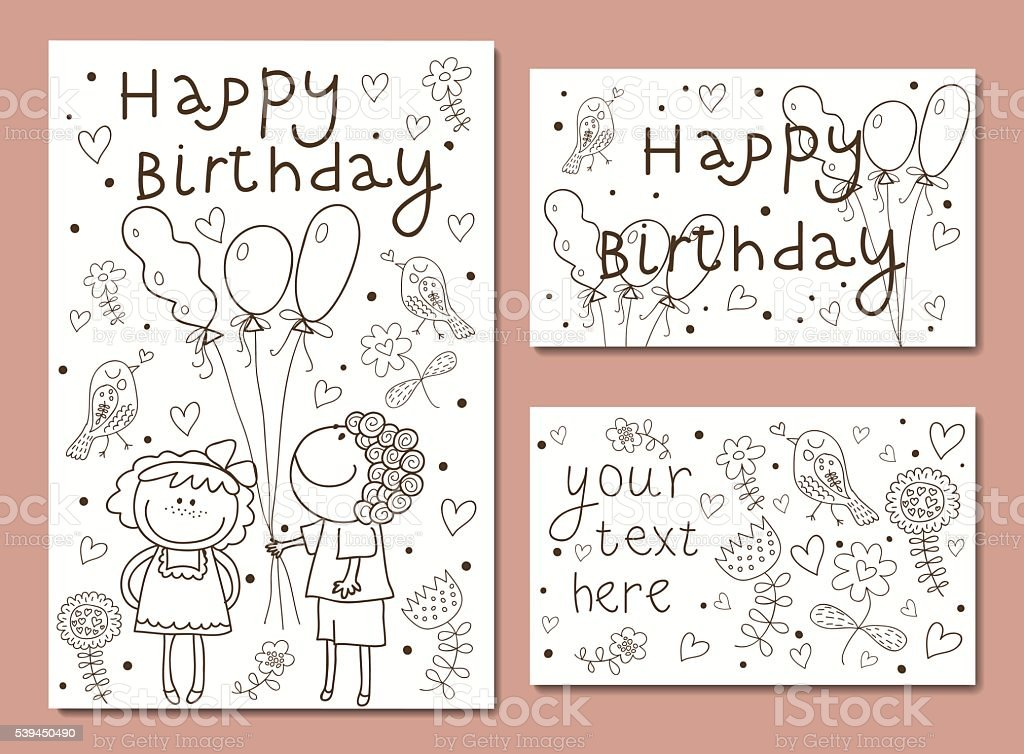 Vector Illustration of a Happy Birthday royalty-free stock vector art