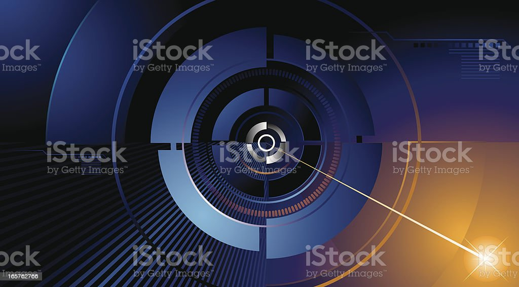 A vector illustration of a high tech background royalty-free stock vector art