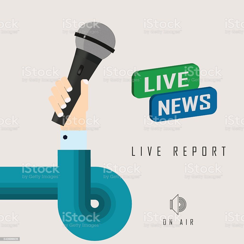 vector illustration of a live report vector art illustration