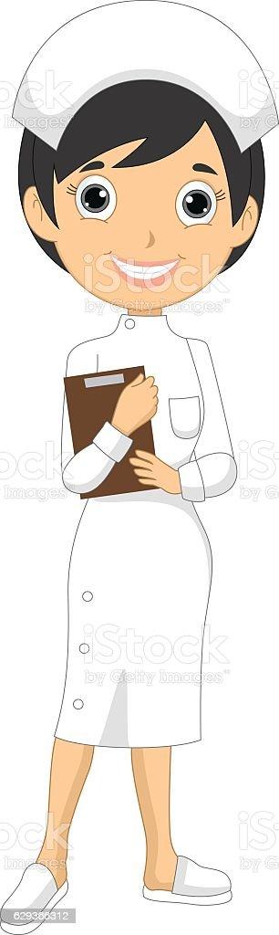 Vector Illustration Of A Nurse vector art illustration