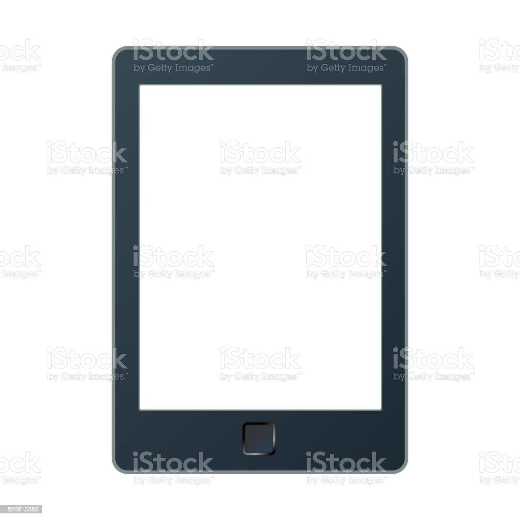 Vector illustration of a portable modern tablet pc e-book reader. vector art illustration
