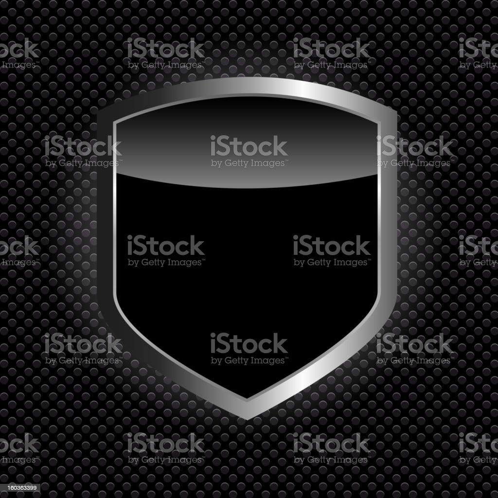 Vector illustration of a protect shield icon vector art illustration