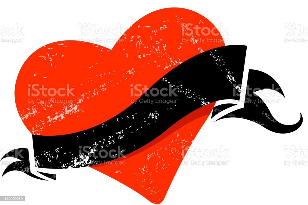 Vector illustration of a red and black Valentine's tag royalty-free stock vector art