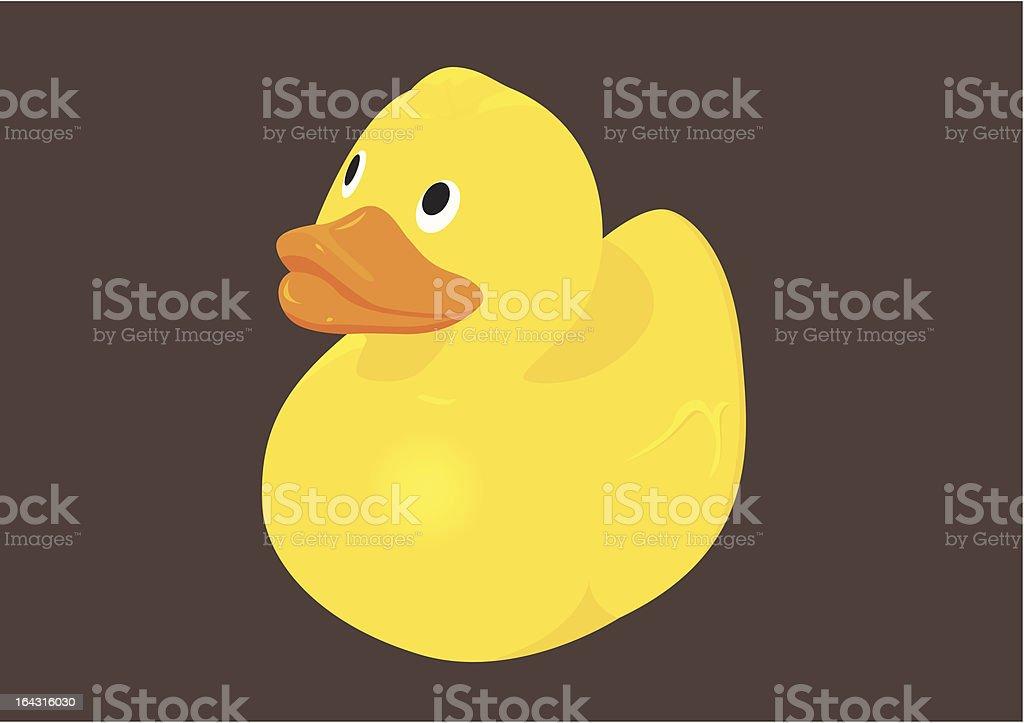 vector illustration of  a rubber duck vector art illustration