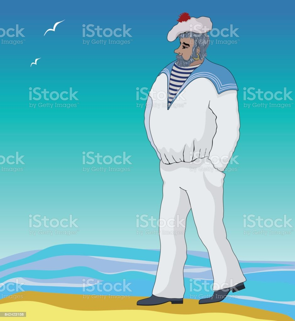 Sailor stock photos illustrations and vector art - Vector Illustration Of A Sailor Royalty Free Stock Vector Art