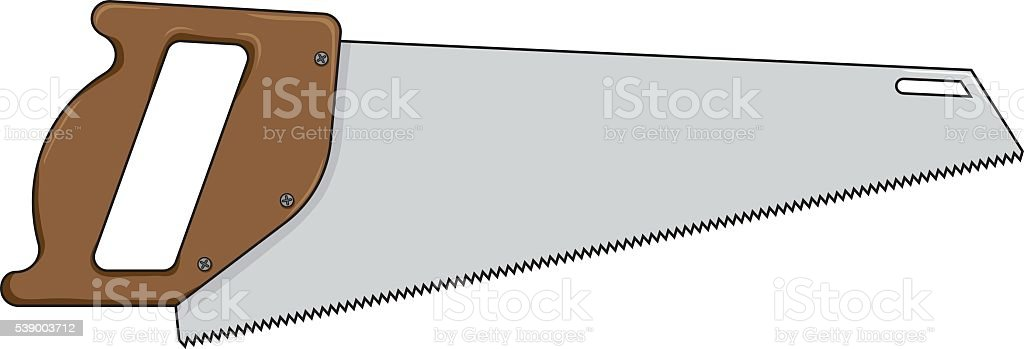 Vector illustration of a saw for wood vector art illustration