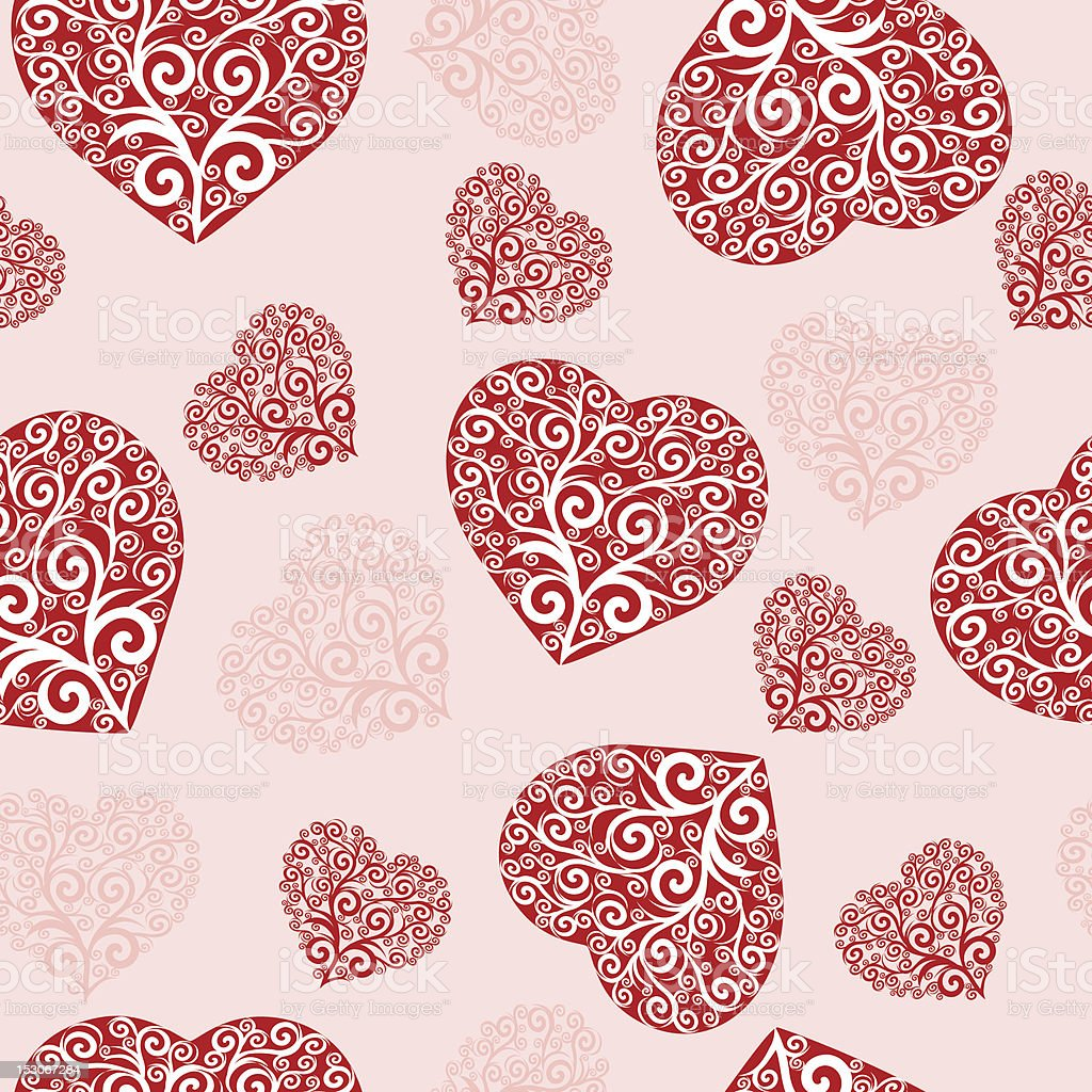 Vector Illustration of a seamless hearts pattern. royalty-free stock vector art