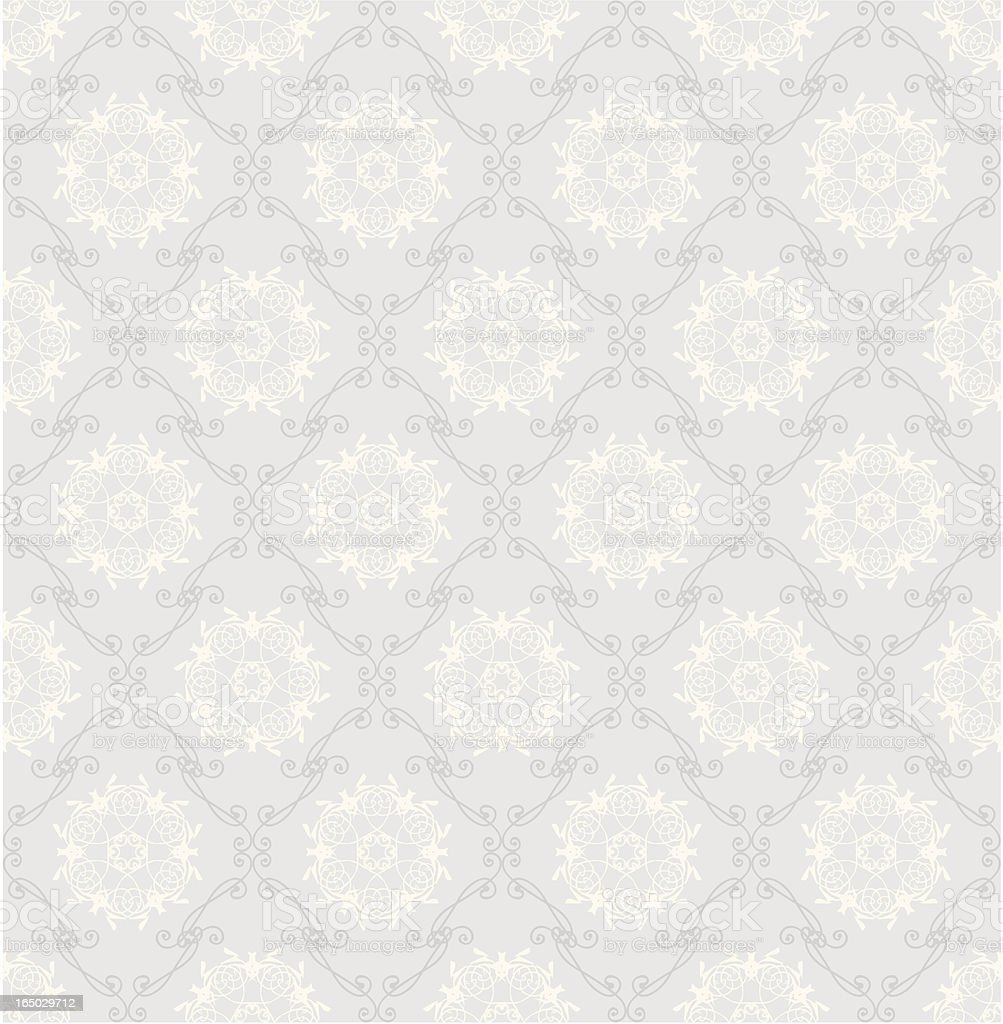 Vector illustration of a seamless white retro wallpaper royalty-free stock vector art