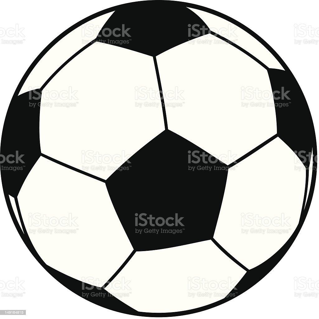 Vector illustration of a soccer football ball royalty-free stock vector art