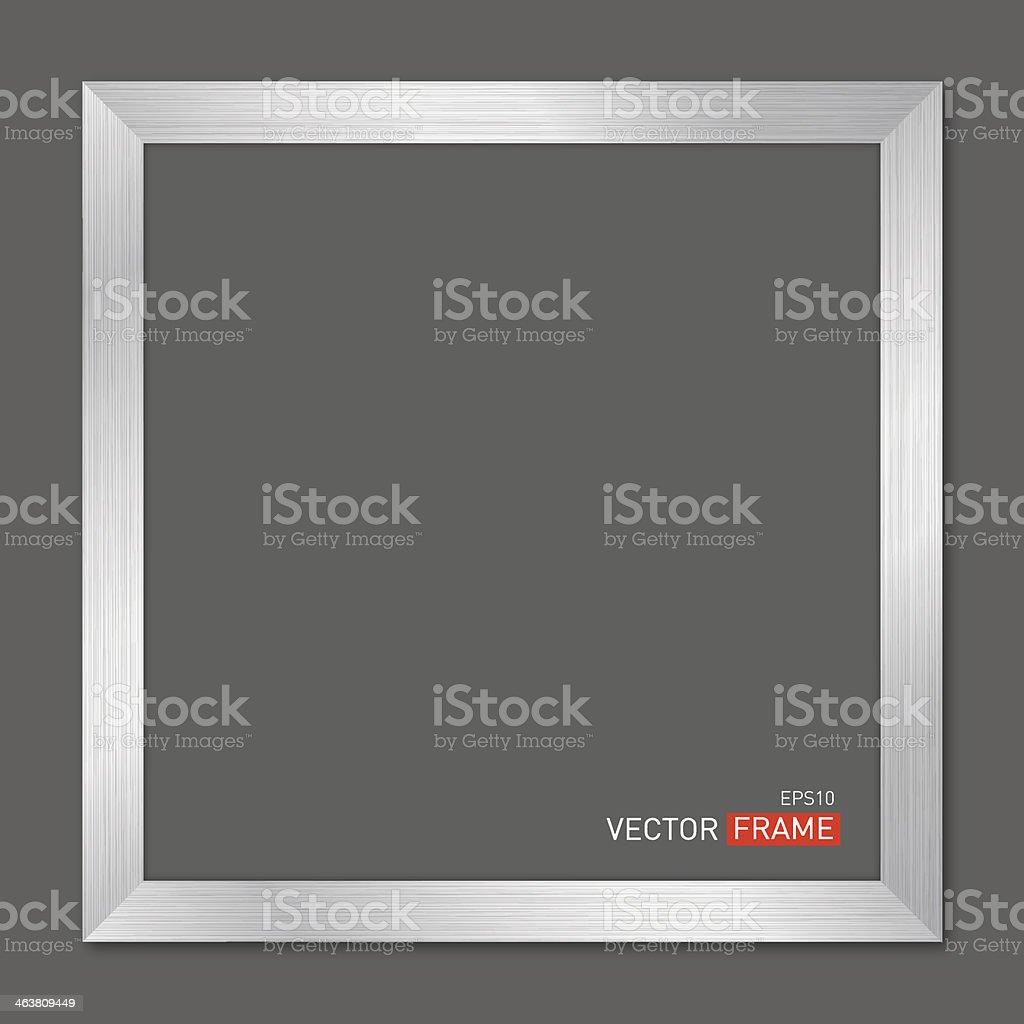 Vector illustration of a square metal frame vector art illustration