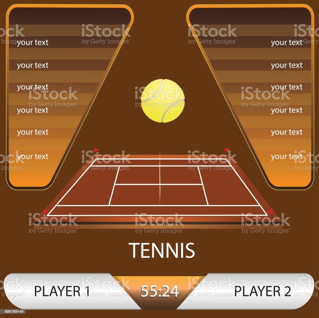 vector illustration of a tennis tournament vector art illustration