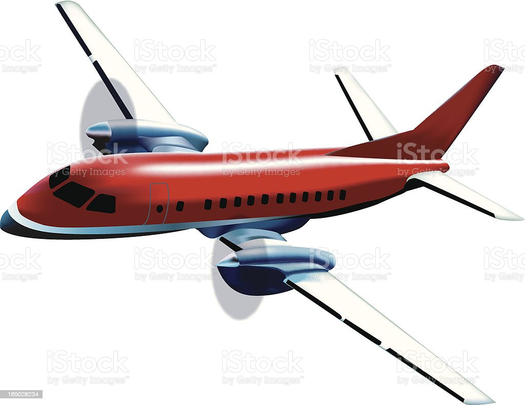 Vector Illustration of a Turbo Prop Airplane royalty-free stock vector art