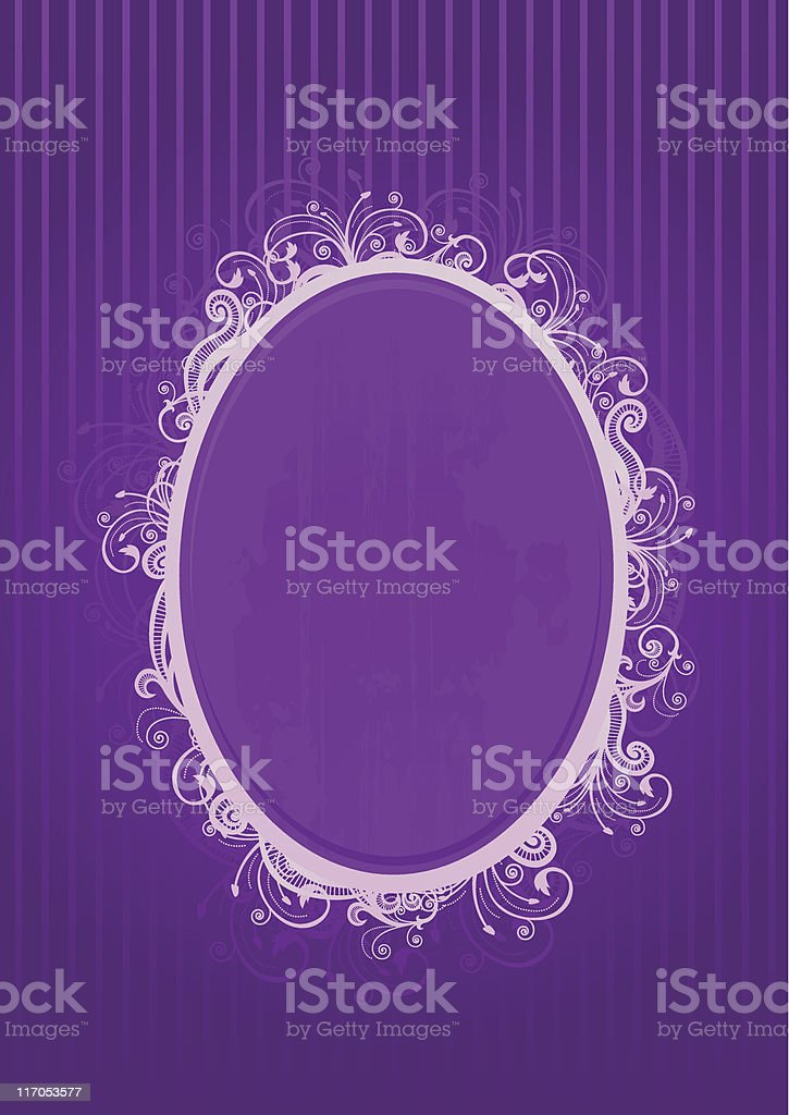 Vector illustration of a violet frame royalty-free stock vector art