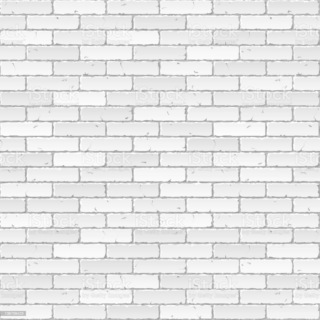 Vector illustration of a white brick wall vector art illustration