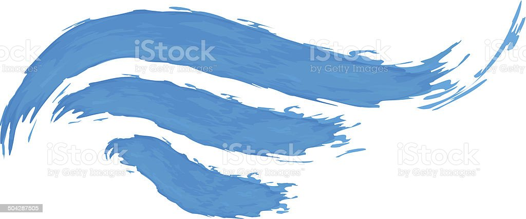 Vector illustration of abstract blue wave vector art illustration