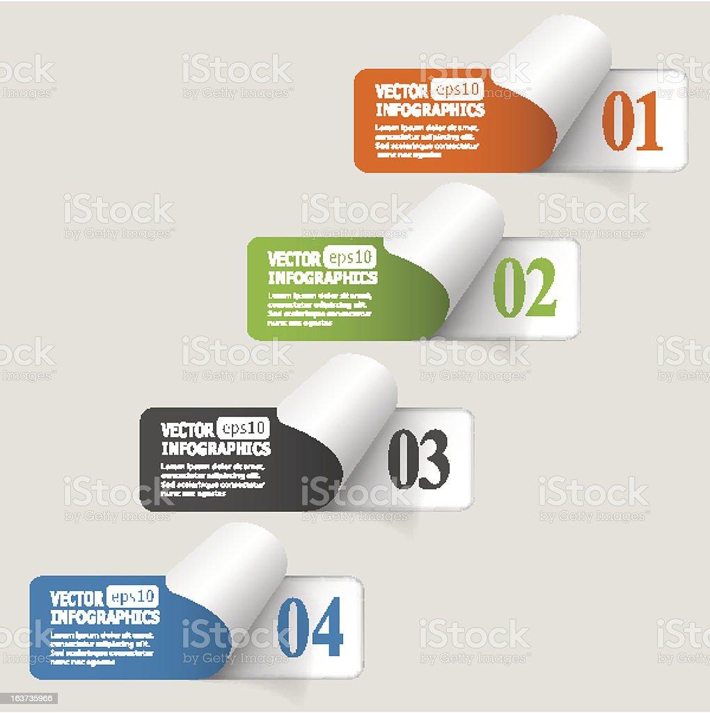 Vector illustration of abstract paper infografics royalty-free stock vector art
