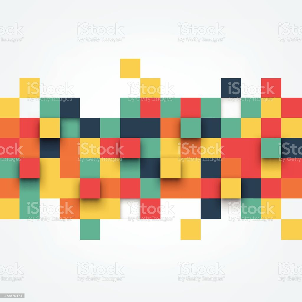 Vector Illustration of abstract squares vector art illustration