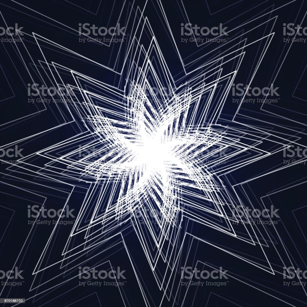 Vector illustration of abstract triangle star background vector art illustration