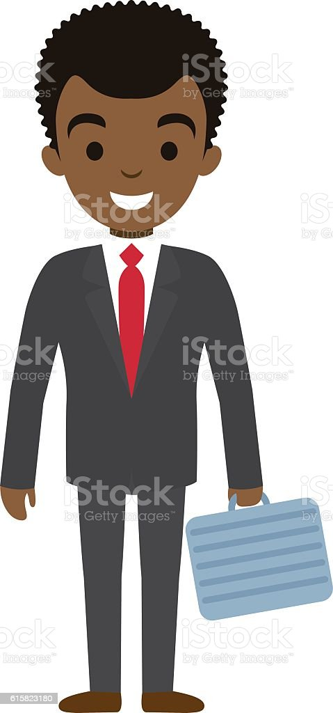 Vector illustration of afro american businessman. vector art illustration