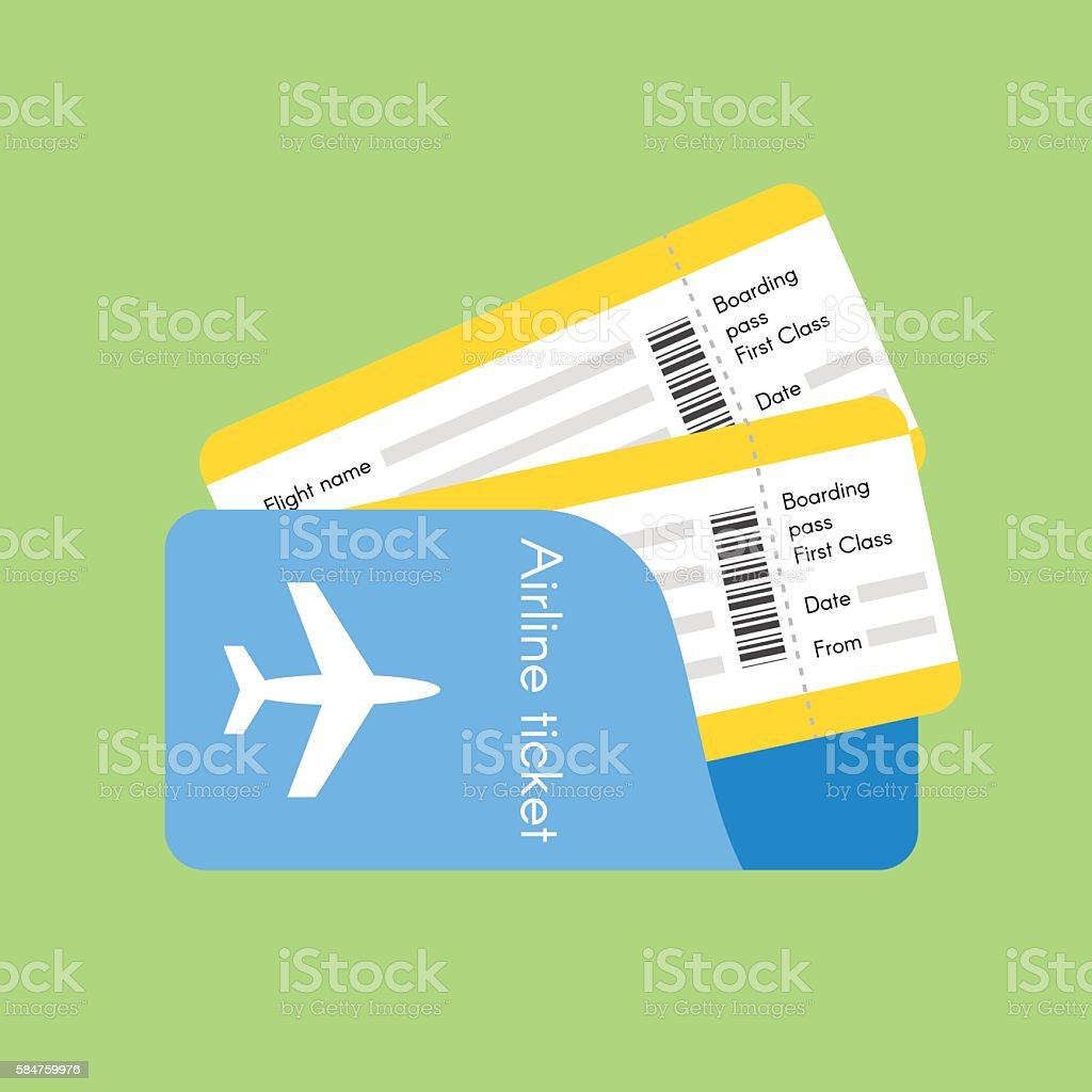 Vector illustration of airline tickets. vector art illustration