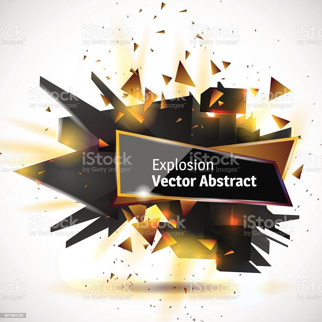Vector illustration of an abstract explosion. vector art illustration