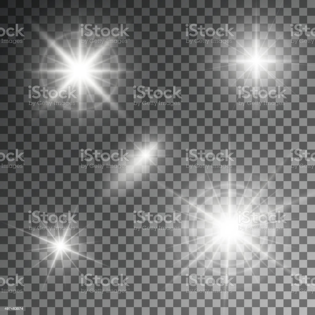 Vector illustration of an abstract set light vector art illustration