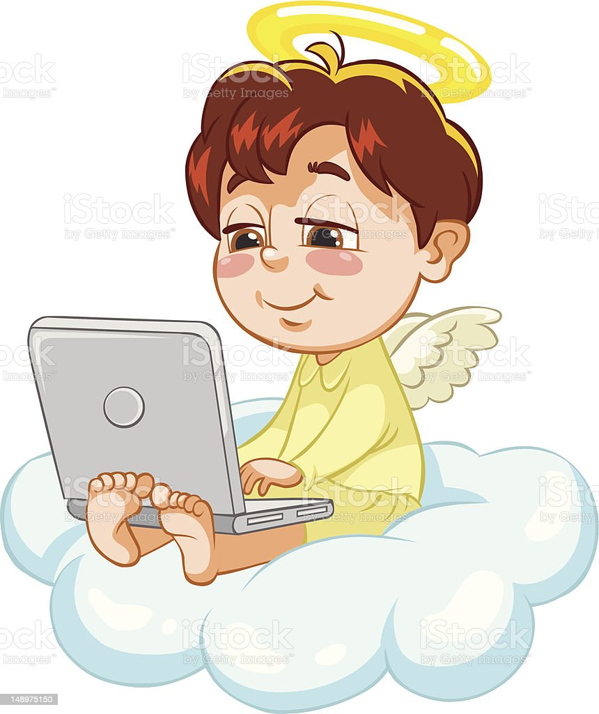 Vector illustration of an Angel. royalty-free stock vector art