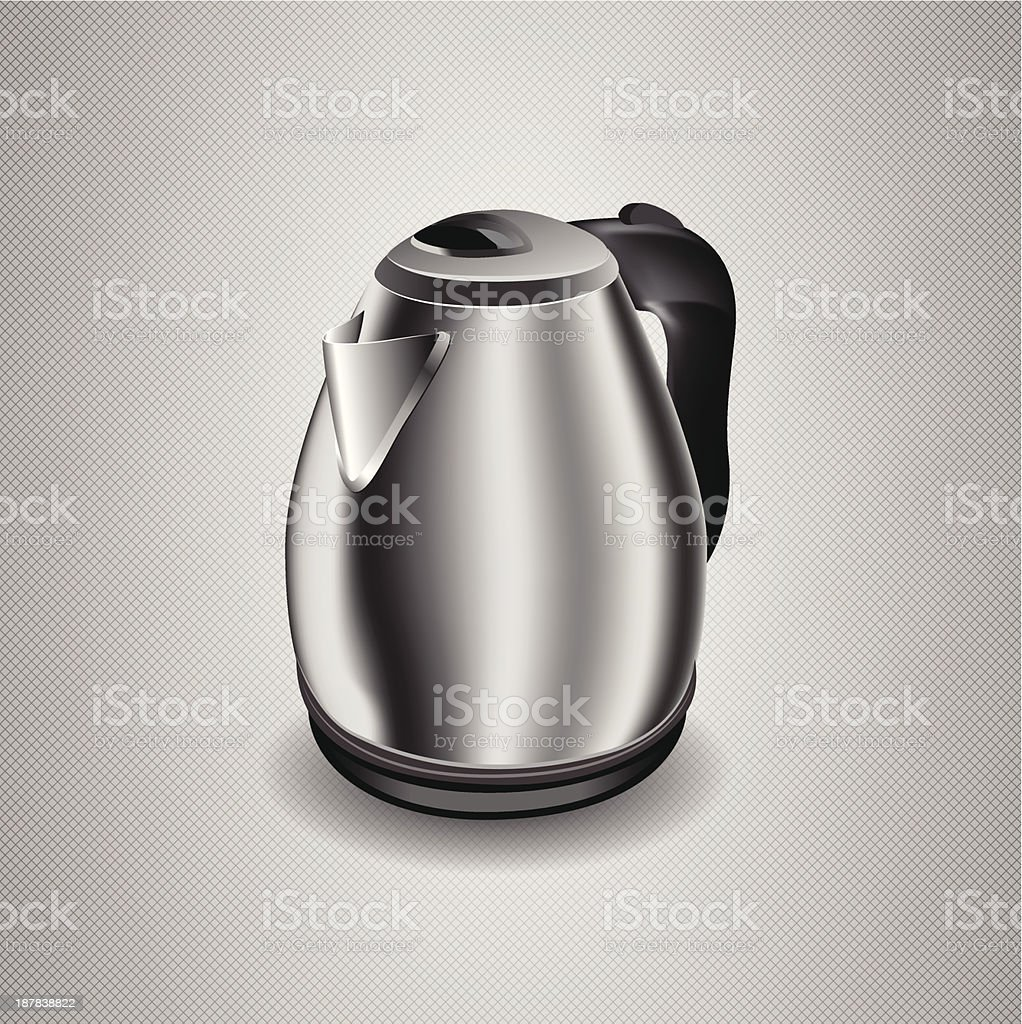 Vector Illustration of an electric kettle royalty-free stock vector art