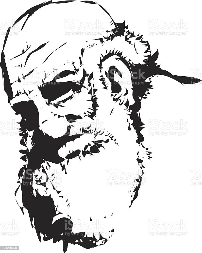 Vector illustration of an old man royalty-free stock vector art