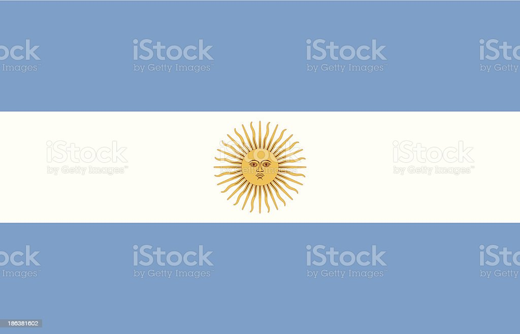 Vector illustration of Argentina flag vector art illustration