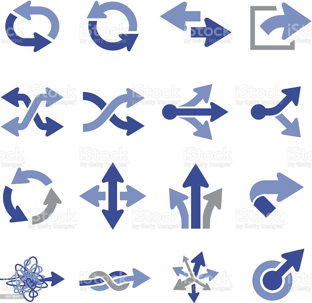 Vector illustration of arrow icons vector art illustration