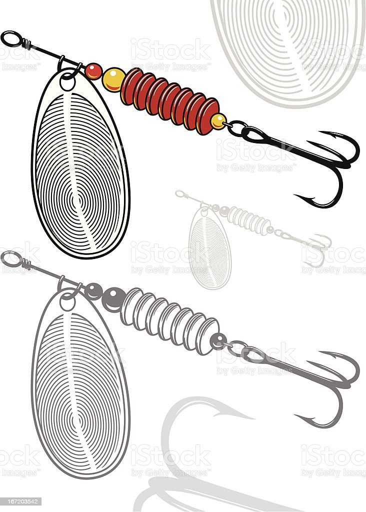 Vector illustration of artificial fishing lure royalty-free stock vector art