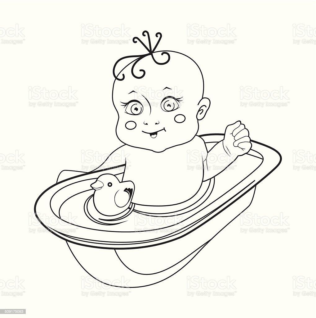 Vector illustration of babies. royalty-free stock vector art