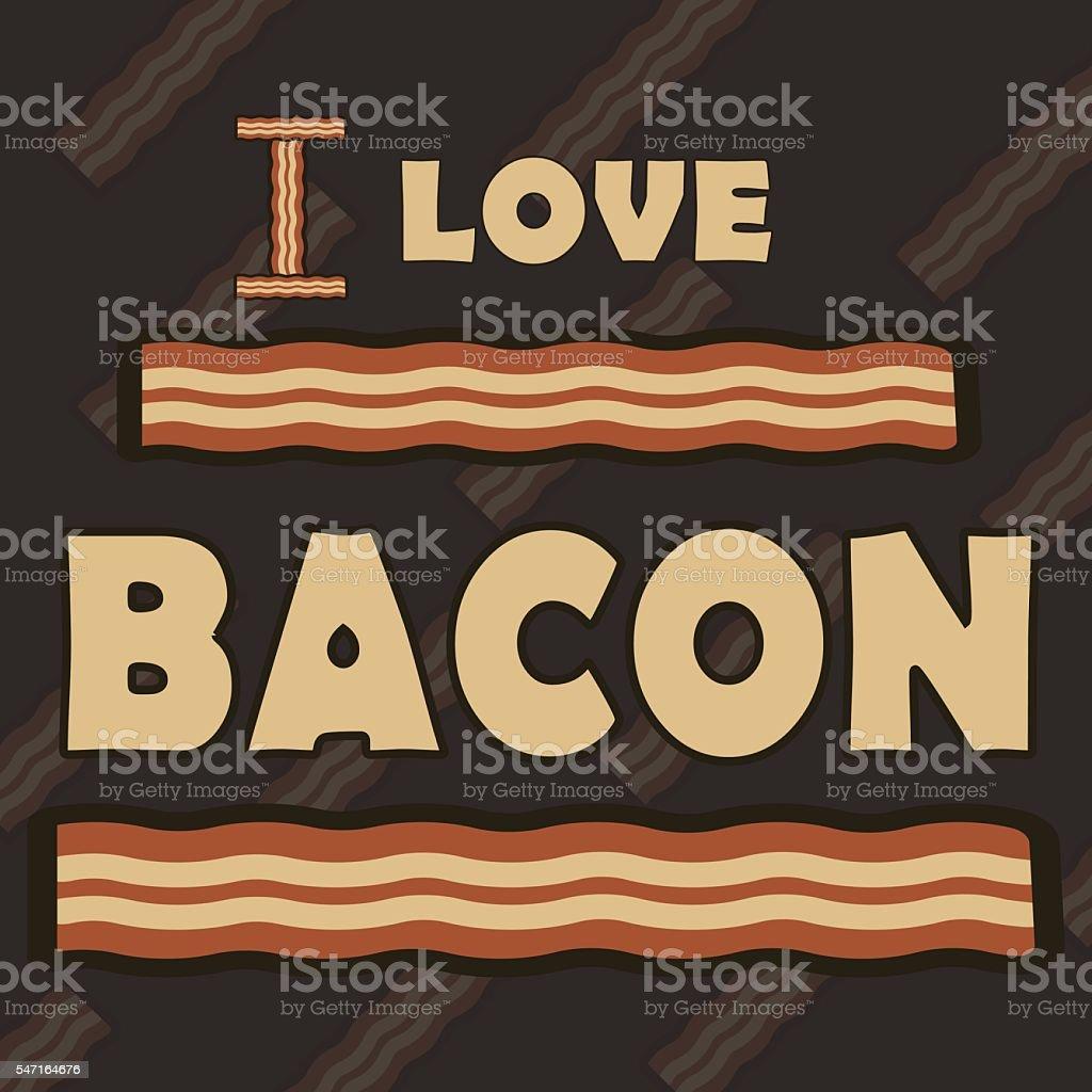 Vector illustration of bacon vector art illustration
