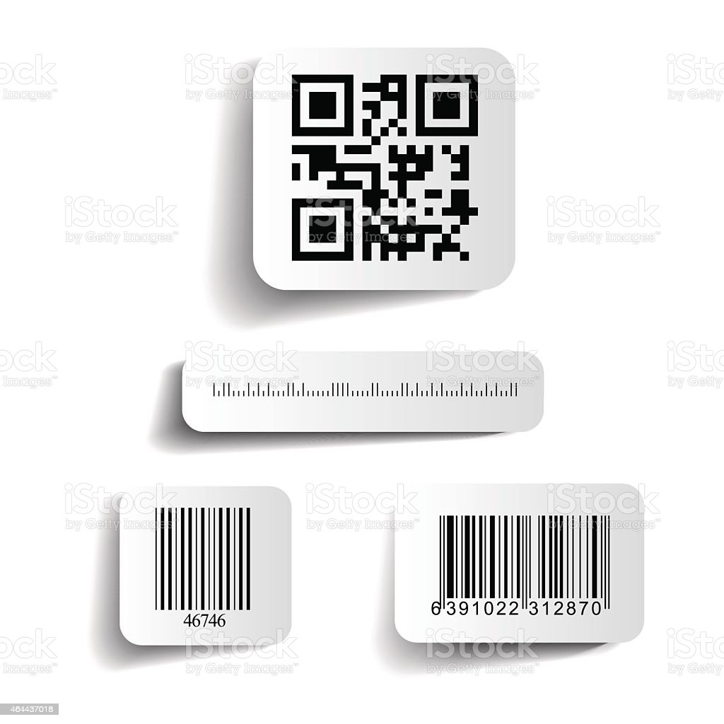 Vector illustration of barcodes on a white background vector art illustration