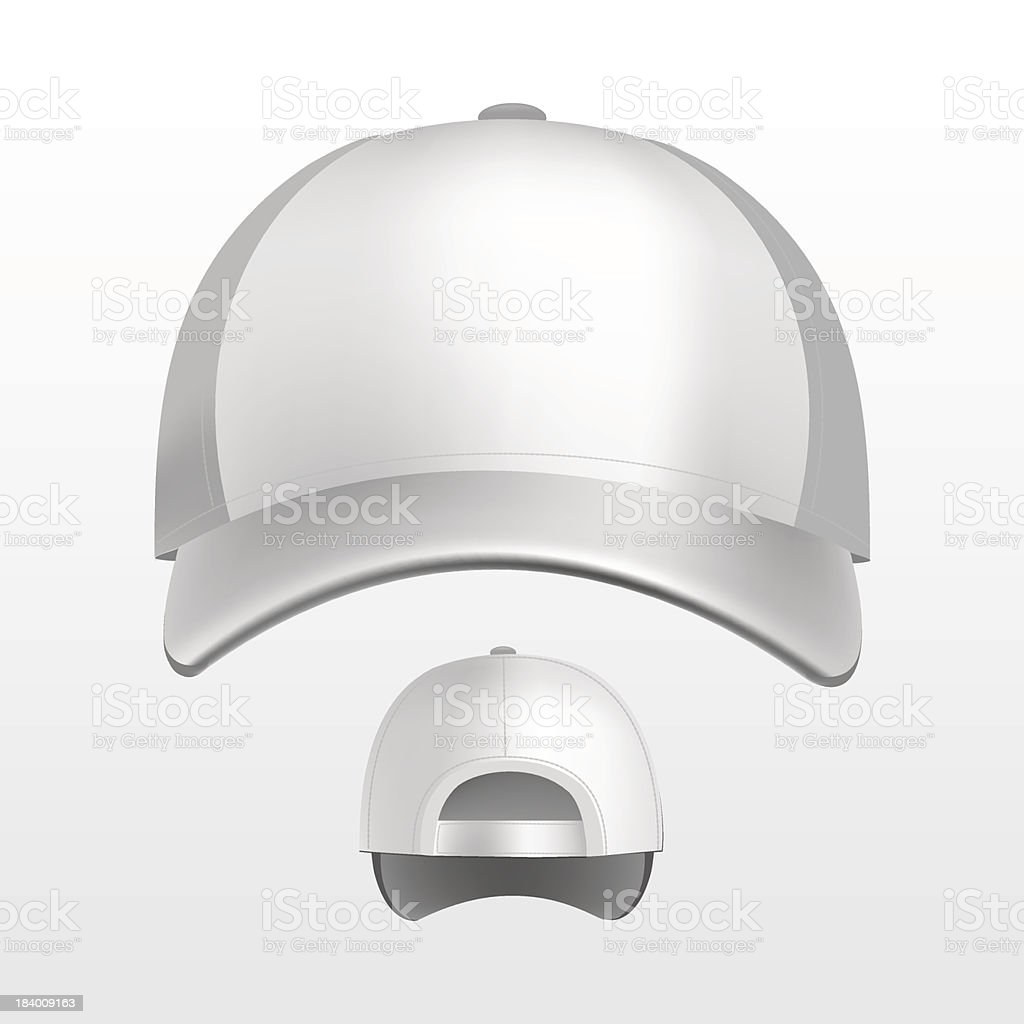 Vector Illustration of Baseball Cap Isolated on White Background vector art illustration