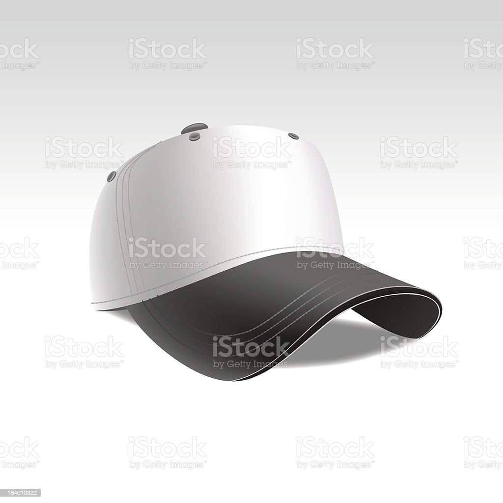 Vector Illustration of Baseball Cap Isolated on White Background royalty-free stock vector art