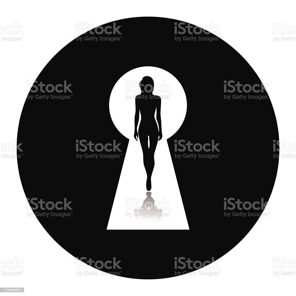 Vector illustration of beautiful female figure. vector art illustration