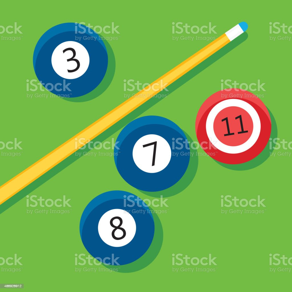 Vector illustration of billiards vector art illustration