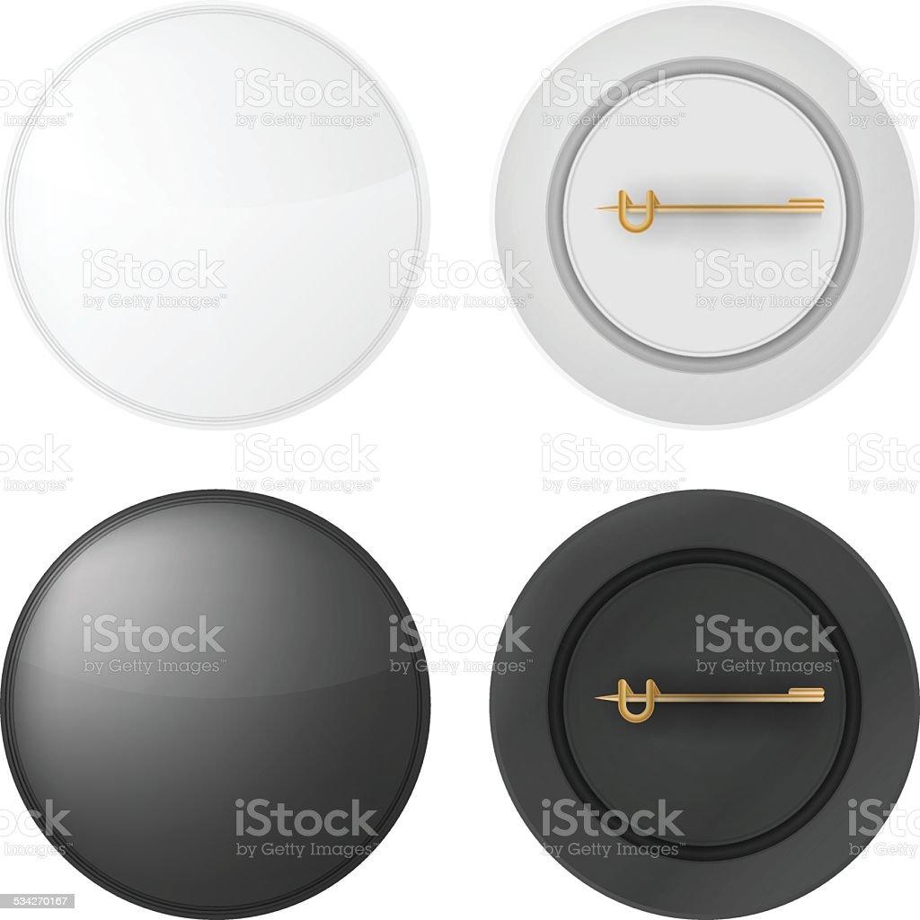 Vector illustration of blank badges vector art illustration